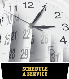 calendar for scheduling automotive services